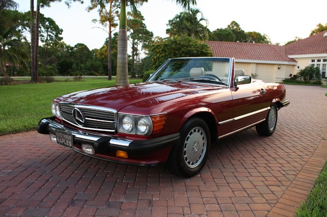 1986 Mercedes Benz SL Convertible Top with Plastic Window
