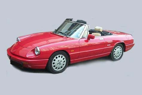 1999 Alfa Romeo GTV Spider Convertible Top