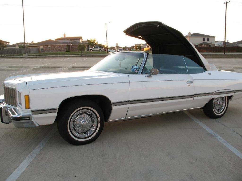 1974 Chevrolet Caprice Convertible Top